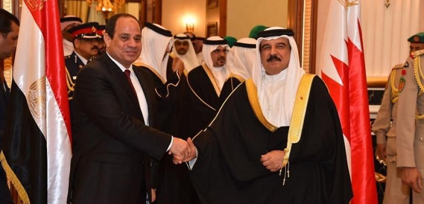 الرئيس السيسي يستقبل اليوم بشرم الشيخ الملك حمد بن عيسى آل خليفة ملك البحرين