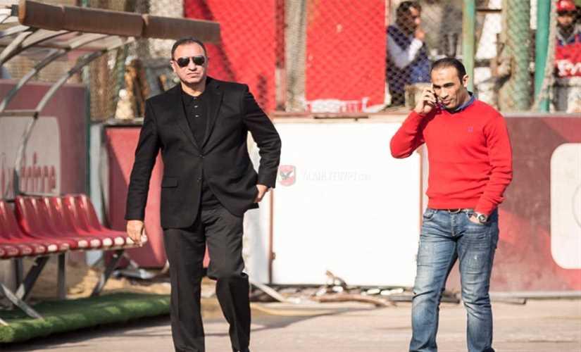 الخطيب يحضر مران الأهلي علي ملعب التتش