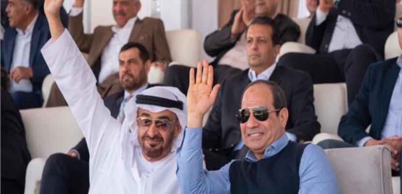 السيسي وبن زايد يشهدان افتتاح مهرجان شرم الشيخ التراثي الدولي