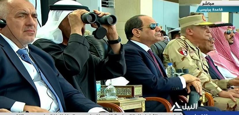 الرئيس السيسي يشهد عددآ من الأنشطة التدريبية بقاعدة برنيس البحرية